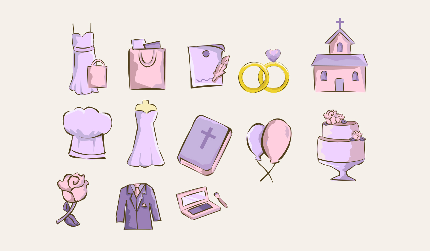Wedding Girl - Category Icons